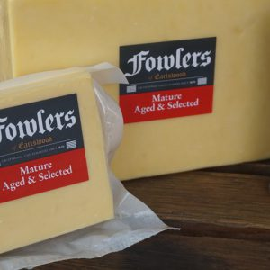 400G FOWLERS MATURE & AGED CHEESE