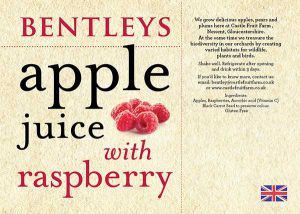 APPLE JUICE WITH RASPBERRY 75cl