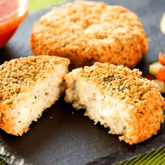 HADDOCK, MOZZARELLA & SPRING ONION FISH CAKE