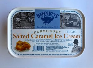 BENNETTS SALTED CARAMEL ICE CREAM