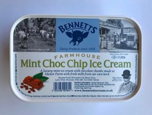 BENNETS MINT CHOC CHIP ICE CREAM