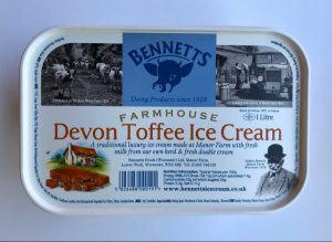 BENNETTS DEVON TOFFEE ICE CREAM