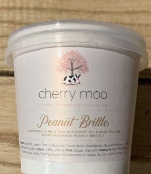 120ml CHERRY MOO PEANUT BRITTLE ICE CREAM