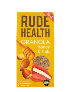 RUDE HEALTH GRANOLA HONEY & NUTS
