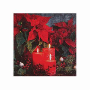 CANDLELIGHT POINSETTIA NAPKINS