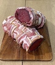 COTSWOLD VENISON LOIN WRAPPED IN STREAKY BACON