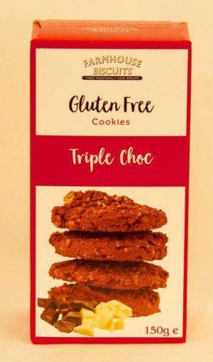 GLUTEN FREE TRIPLE CHOC CHIP COOKIES