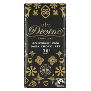DIVINE FAIRTRADE 70% DARK CHOCOLATE 100g