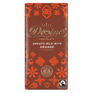 DIVINE FAIRTRADE ORANGE MILK CHOCLATE