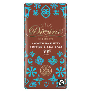 DIVINE FAIRTRADE TOFFEE & SEA SALT MILK CHOCLATE