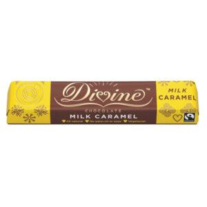 DIVINE FAIRTRADE MILK CHOCOLATE with CARAMEL 35g