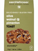 GLUTEN FREE OLIVE, WALNUT & PIMENTON TOAST