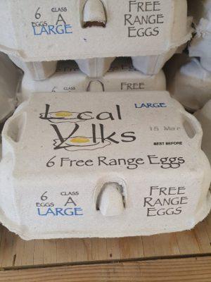 1/2 DOZ LARGE FREE-RANGE EGGS