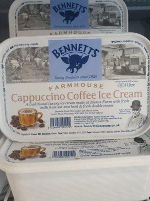 BENNETTS CAPPUCCINO COFFEE ICE CREAM