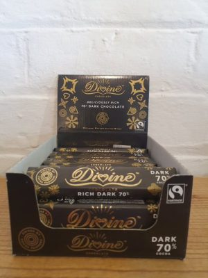 DIVINE FAIRTRADE 70% DARK CHOCOLATE BAR 35g